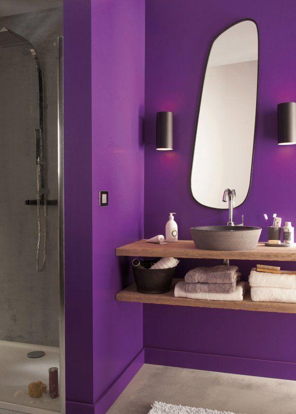 17 meilleures id es propos de salle de bains prune sur pinterest salles d - Conseil peinture 2 couleurs ...