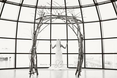 Bellingham Ferry Terminal Wedding & Cool twiggy arch