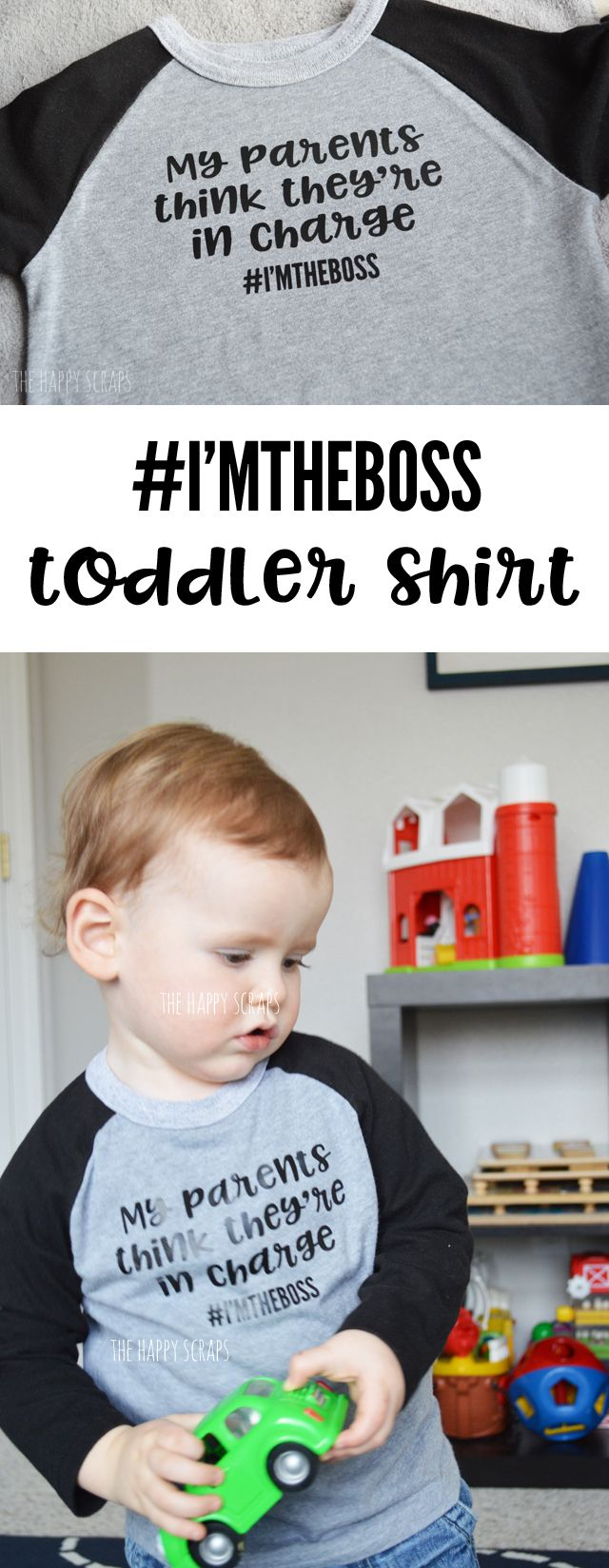 Who do you know that needs this I'm The Boss Shirt? It's the perfect shirt for my little almost 2 year old. Because let's be honest. He is the boss. ;) The Cricut Maker makes this shirt simple to make.