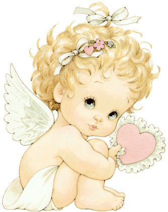 Dibujos. Clipart. Digi stamps - Angel by Ruth Morehead