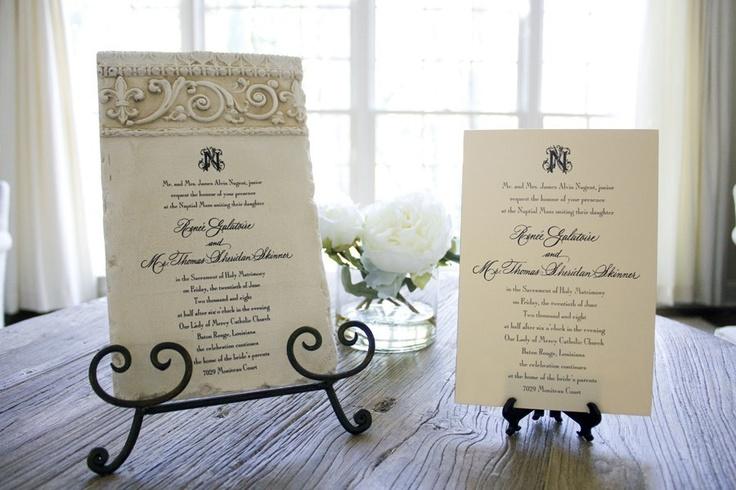 Wedding Invitation Keepsake Tile.Turn your wedding invitation into a tile!