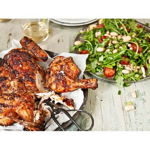 Bbq chicken with chorizo and bean salad recipe | Food To Love