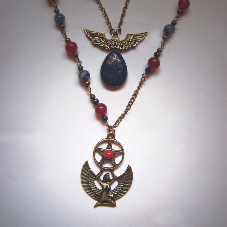 Egyptian Goddess Isis Sothis Sopdet Art Nouveau style double ...