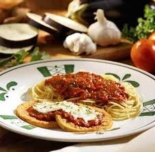 My favorite restaurant is Olive Garden; Eggplant Parmesan or Cheese Ravioli!  Yum♥