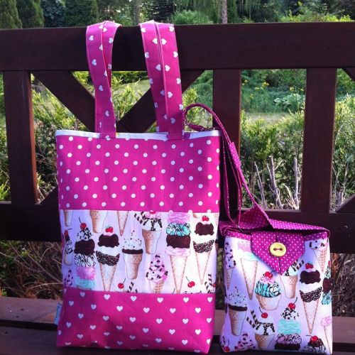 And following high temperatures let us intoduce ice cream theme set of cute bags that means again new staff from Hola Lotta. Look for HolaLotta on Etsy  #crossbody #purse #fabricbag  #Tote bag,