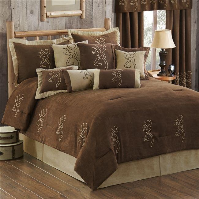 Browning Buckmark Suede Comforter Set