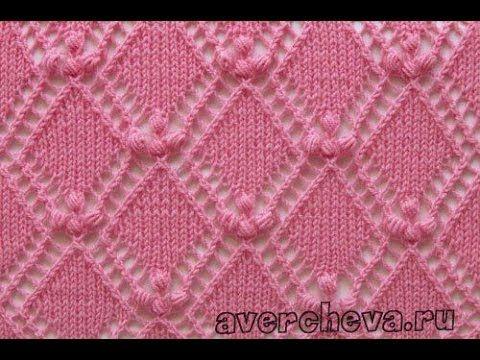 Вязание Спицами - УЗОРЫ РОМБЫ - 2016 / Knitting - patterns rhombus - YouTube