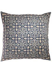 Azrak indian b/print cotton large cushion cover