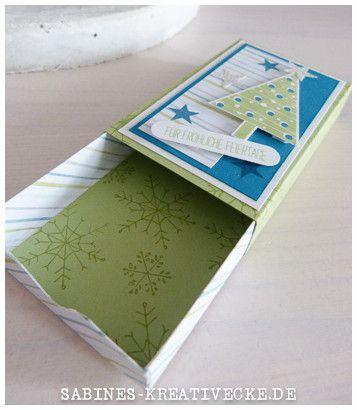 Hallo,   vor einiger Zeit ist diese Matchbox entstanden. Ich liebe diese Art von Verpackung und das ich diese Farbkombi auch sehr gerne verw...
