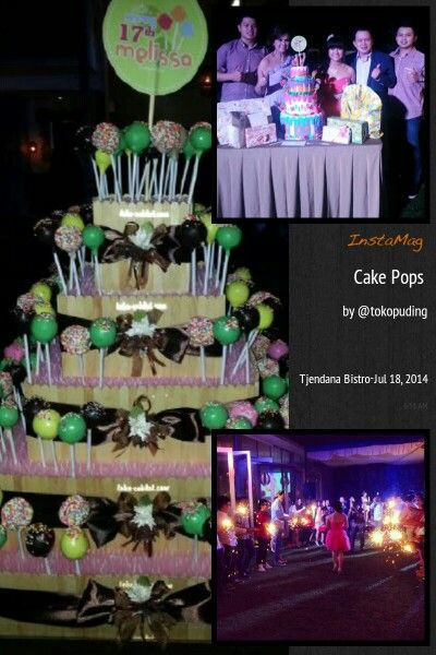 Cake pops for 17th Birthday Party