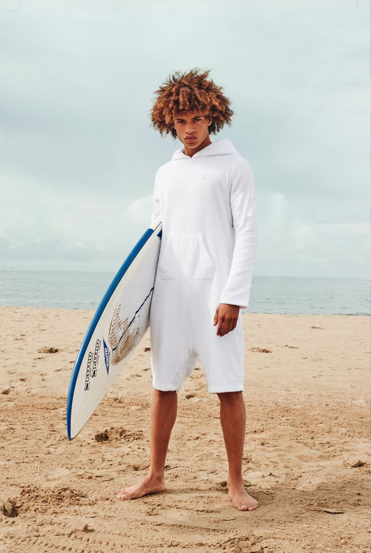Onepiece towel jumpsuit on the beach