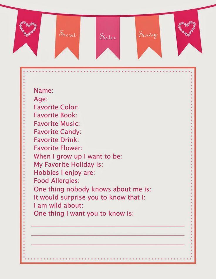 Secret Santa Gift Exchange Questionnaire 1000+ ideas about secret ...