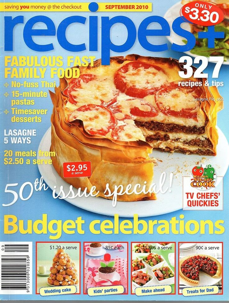 Recipes+ magazine issue 50  September 2010