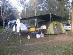 Setting Up Tarp Over Tent | Camp site at Borumba Deer Park