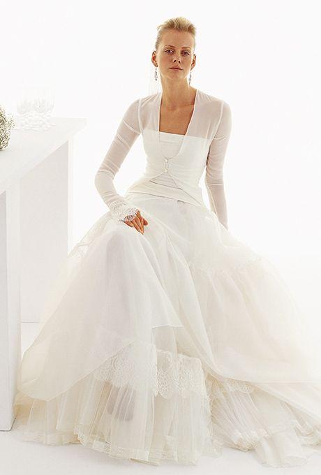 Le Spose Di Gi�. Chiffon bolero, on a strapless organza full skirt.