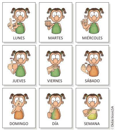 Days of the week in Argentinan Sign Language! Aprende lengua de señas (basico) - Taringa!