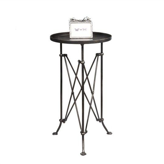 Whitehall Bronze Finish Metal Table - Bedside Tables - Bedroom