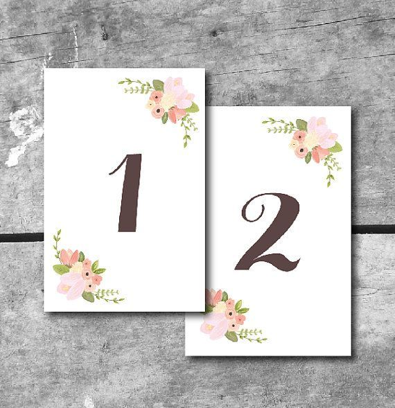 Free Printable Wedding Table Numbers Wedding Table Numbers Printable Free Printable Wedding Table Numbers Wedding Table Numbers Etsy