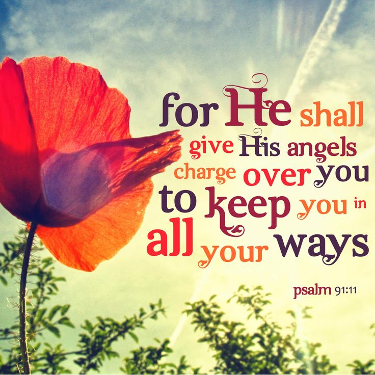 Psalm 91:11 KJV [11] For he shall give his angels charge over thee, to keep thee in all thy ways.