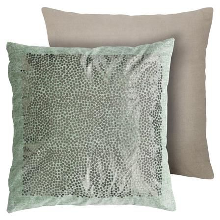 Cotton Cushion with Snow Dots in Moss W50 x H50 cm