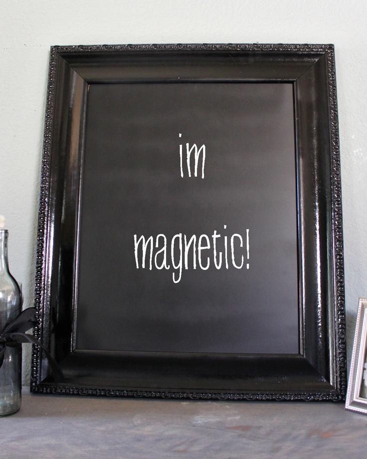 Large Black Framed Magnetic Chalkboard 3124 Pinterest