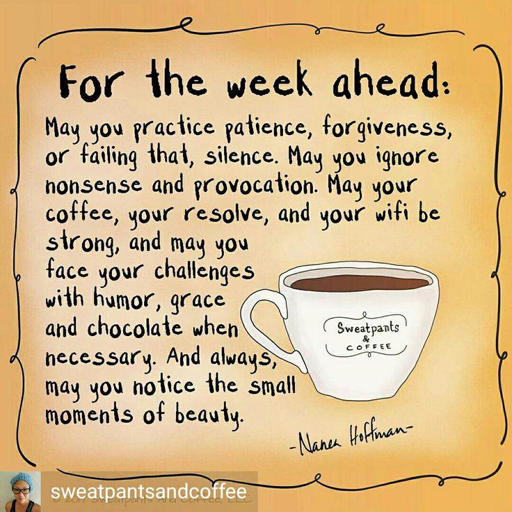 Sunday coffee week ahead