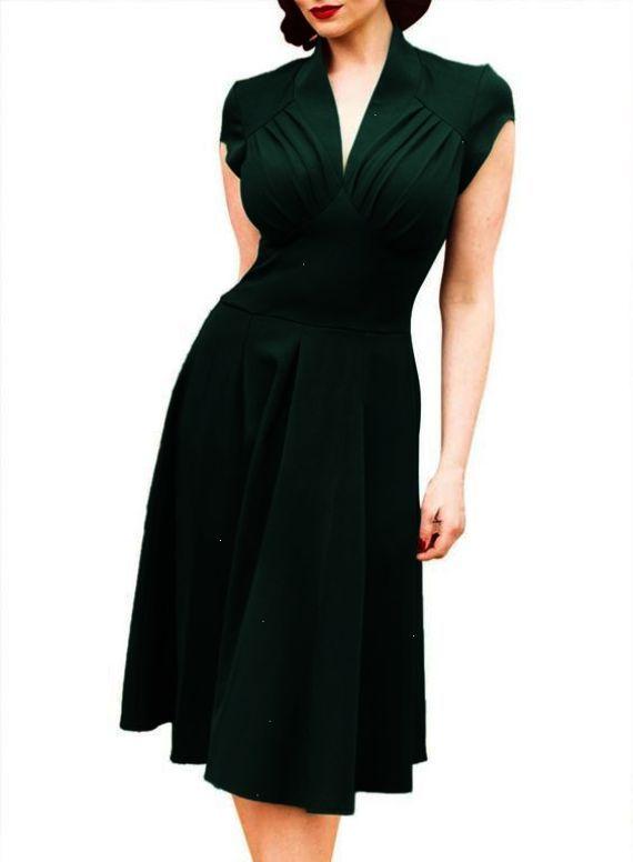 e28a79e1157 Dress 50s Style 4 Colors 1950s Vintage Rockabilly 60s Clothing Retro  Dresses Plus Size Audrey Hepburn Evening Dress