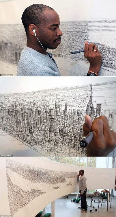 After a 20-minute flight over the city of New York, Stephen Wiltshire, diagnosed with autism, draws the whole town with only his memory.