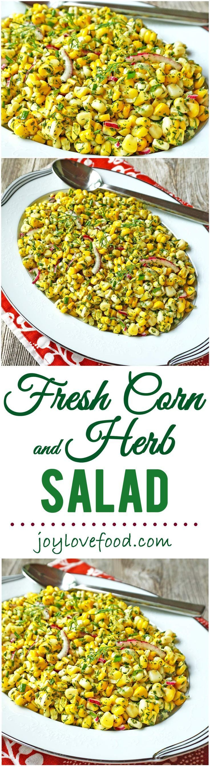Fresh Corn and Herb Salad  this light and refreshing salad is full of flavor and a great side dish for a summer barbeque.