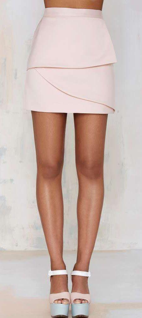 Nasty Gal Raina Layered Skirt