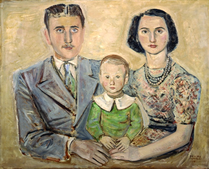 Ritratto di famiglia by Massimo Campigli (Italian 1895 - 1971)