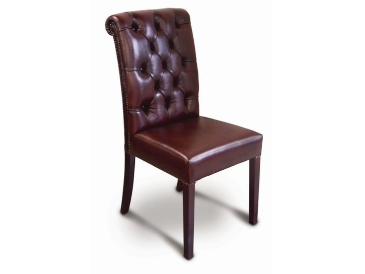 """Erica"" Chesterfield styled leather dining Chair   $AUD 400"