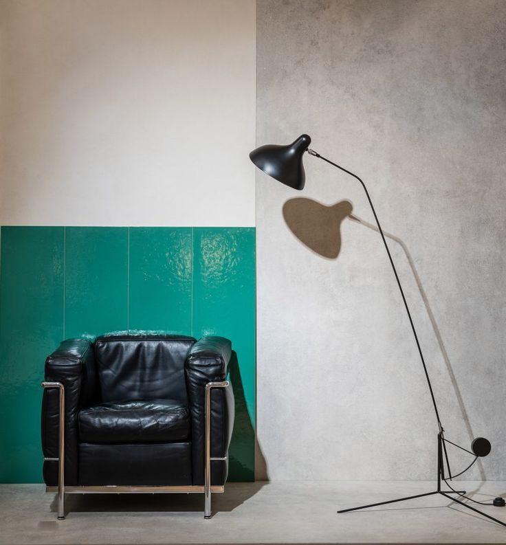 gigacer launches tile range based on le colour theory ranges armchairs and concrete