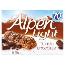Alpen Light Bars Double Chocolate 5 Pack 95G