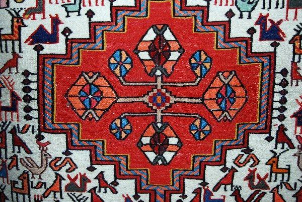 Making of a Turkish carpet