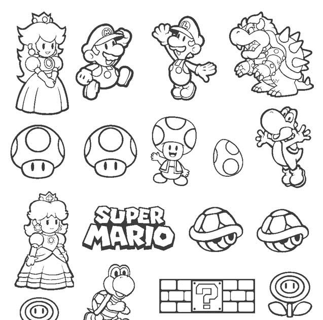 Super Mario Bros Coloring Pages In 2020 Super Mario Super Mario
