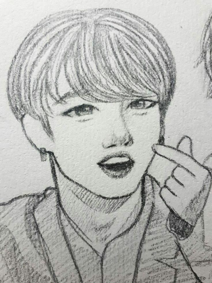 BTS JeonJungkook Drawing Btsfanart Jungkook draw