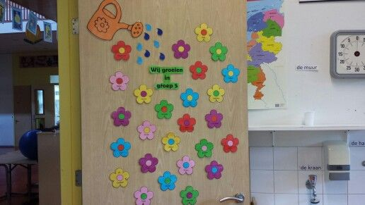 Klassendeur bloemen