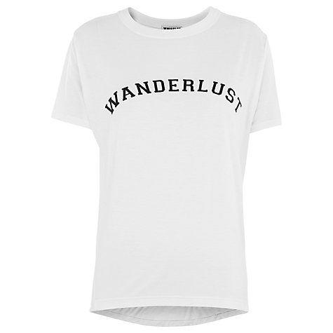 Buy Whistles Wanderlust T-Shirt, White Online at johnlewis.com