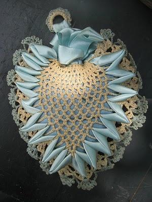 Vintage Heart-Shaped Pincushion