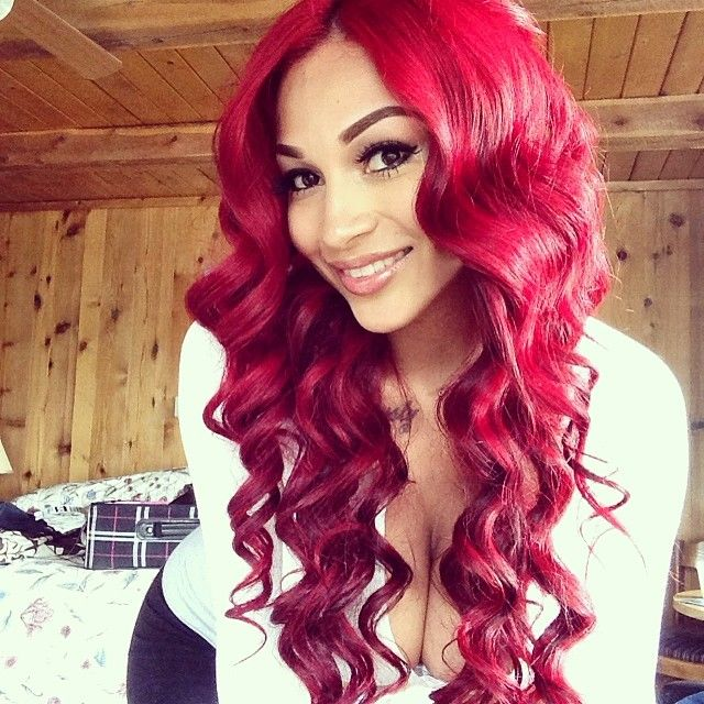 Red brazilian body wave hairstyles