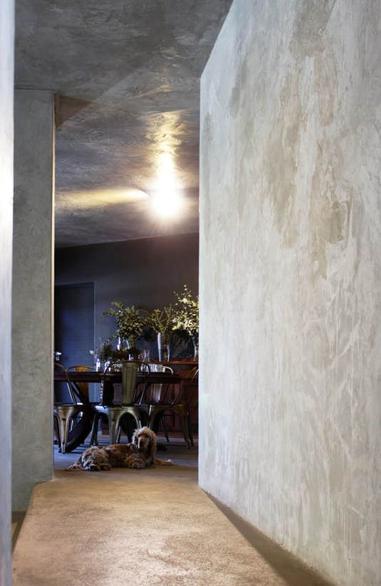 Cemcrete Home Tour - A dramatic modern home featuring SatinCrete Pewter walls and ceiling