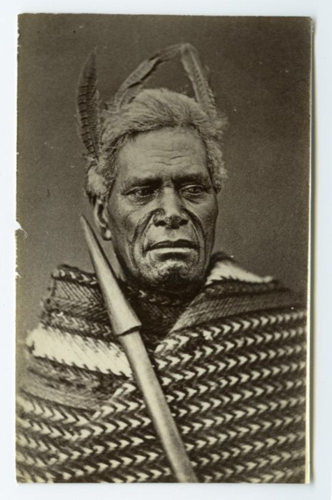 American Photo Company (Auckland) fl 1870s : [Unidentified Maori man]