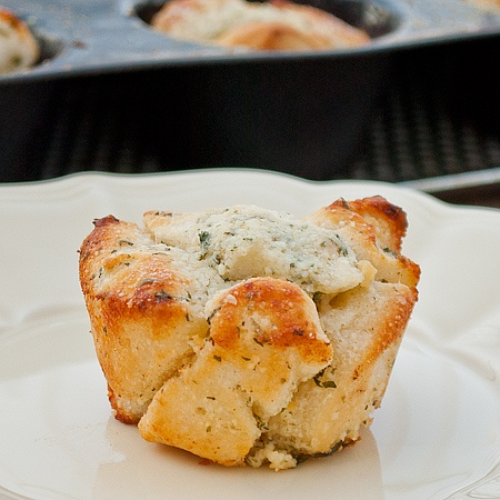 Individual Garlic Monkey Bread.