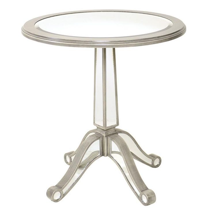 Gorgeous #mirrored #wooden #table in antique grey color! www.inart.com
