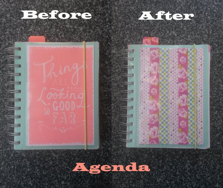 Mijn agenda pimpen met washi tape - Pimping my agenda with washi tape