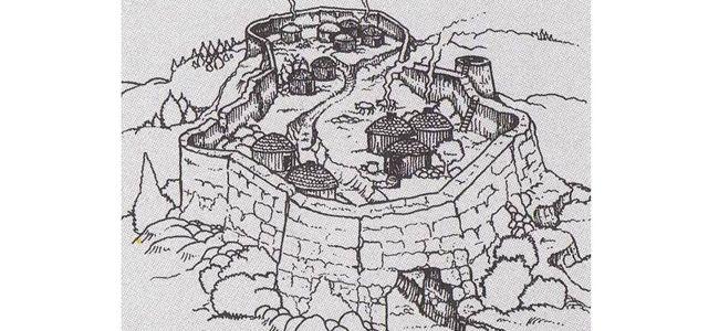 Istria. Assetto all'interno di un villaggio dell'età del bronzo