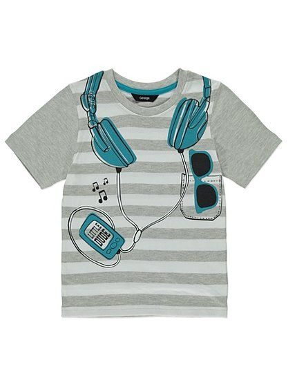 Headphones T- shirt, read reviews and buy online at George. Shop from our latest range in Kids. Your little music fan will love this headphones t- shirt. Cre...