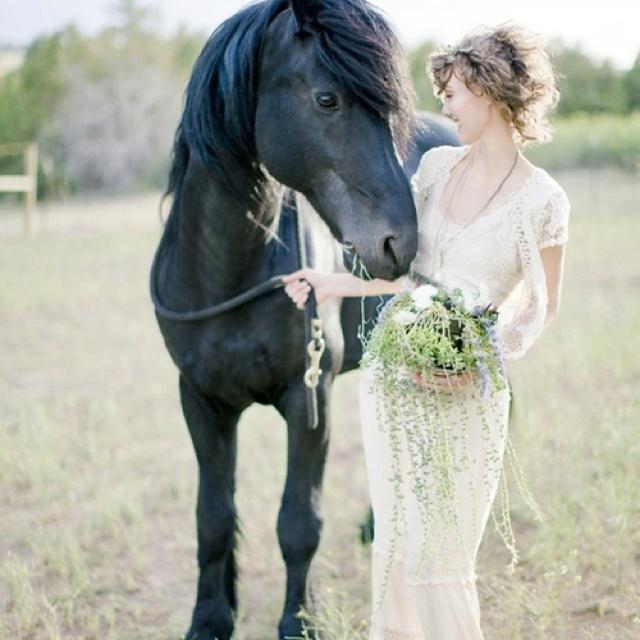 ce382fe75b62005e35e9833956ecc8c3  horse engagement photos sleeve wedding dresses - Modest Wedding Dresses