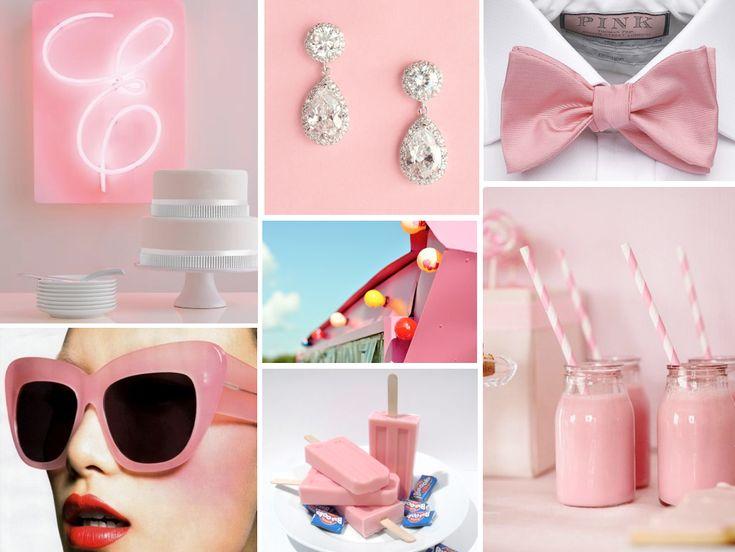 {bazooka joe} bubble gum pink: Wedding Inspiration, Retro Weddings, Pink Wedding, Gum Pink, Blushes Pink, Bubbles Gum, Pink Retro, Retro Pink, Pink Parties
